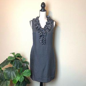 Kate Spade silk navy stripe dress